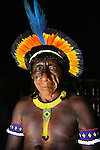 Xingu Indian man, Amazon Basin, Brazil.