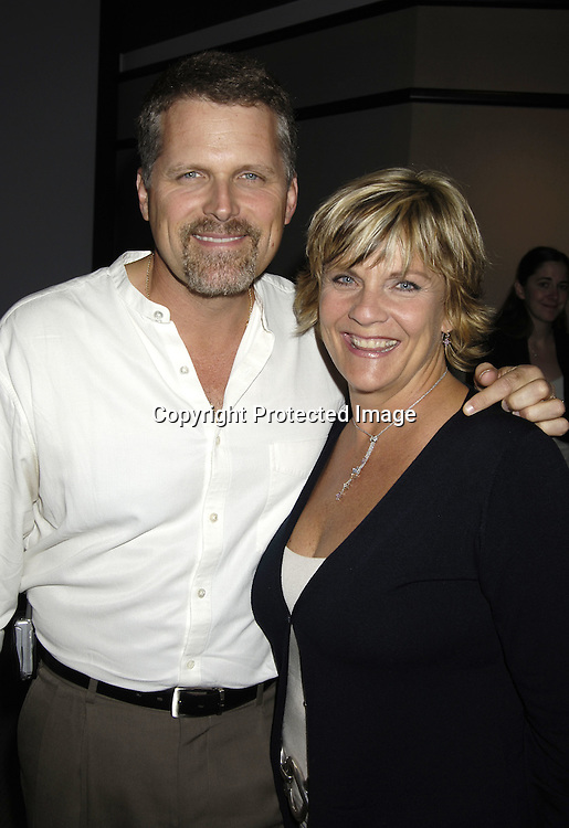Robert Newman and Kim  Zimmer ..at at reception in honor of Mary Alice Dwyer-Dobbin on her ..leaving P and G on September 29, 2005 at the offices of ..P and G. ..Photo by Robin Platzer, Twin Images