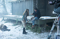 Bad Samaritan (2018)  <br /> Behind the scenes photo of Jacqueline Byers &amp; Robert Sheehan<br /> *Filmstill - Editorial Use Only*<br /> CAP/MFS<br /> Image supplied by Capital Pictures
