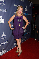 Clare Kramer<br /> The first annual Geekie Awards at The Avalon Hollywood in Hollywood, CA., USA.  <br /> August 18th, 2013<br /> full length purple sheer dress hand on hip sleeveless <br /> CAP/ADM/BT<br /> &copy;Birdie Thompson/AdMedia/Capital Pictures