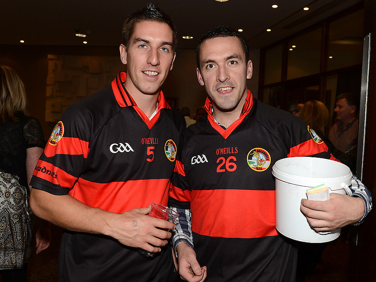 Padraig Rath and Brian Gargan at the White Collar Boxing in City North Hotel. Photo:Colin Bell/pressphotos.ie