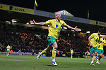 Norwich City vs Newcastle United.Norwich's Steve Morrison celebrates his goal for Norwich City.