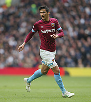 West Ham United's Fabian Balbuena<br /> <br /> Photographer Rob Newell/CameraSport<br /> <br /> The Premier League - Tottenham Hotspur v West Ham United - Saturday 27th April 2019 - White Hart Lane - London<br /> <br /> World Copyright © 2019 CameraSport. All rights reserved. 43 Linden Ave. Countesthorpe. Leicester. England. LE8 5PG - Tel: +44 (0) 116 277 4147 - admin@camerasport.com - www.camerasport.com
