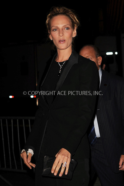 WWW.ACEPIXS.COM . . . . . ....October 14 2009, New York City....Actress Uma Thurman arriving at the 'Motherhood' premiere hosted by Gotham magazine at the SVA Theater on October 14, 2009 in New York City.....Please byline: KRISTIN CALLAHAN - ACEPIXS.COM.. . . . . . ..Ace Pictures, Inc:  ..tel: (212) 243 8787 or (646) 769 0430..e-mail: info@acepixs.com..web: http://www.acepixs.com