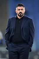 Gennaro Gattuso Napoli coach<br /> Roma 11-01-2020 Stadio Olimpico <br /> Football Serie A 2019/2020 <br /> SS Lazio - SSC Napoli<br /> Foto Antonietta Baldassarre / Insidefoto