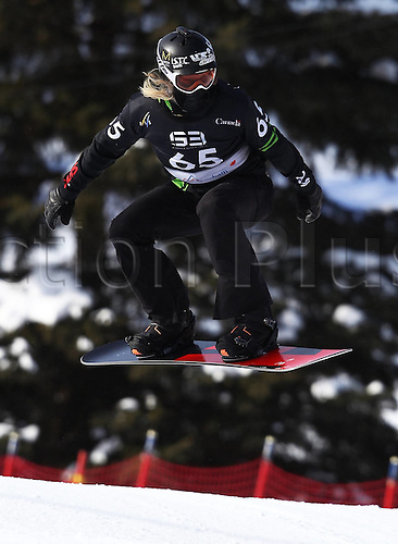 24.01.2013. Snowboarding FIS World Cup  SBX qualification day Stoneham,  Canada Snowboard Cross Qualification for men. Picture shows Hagen Kearney USA
