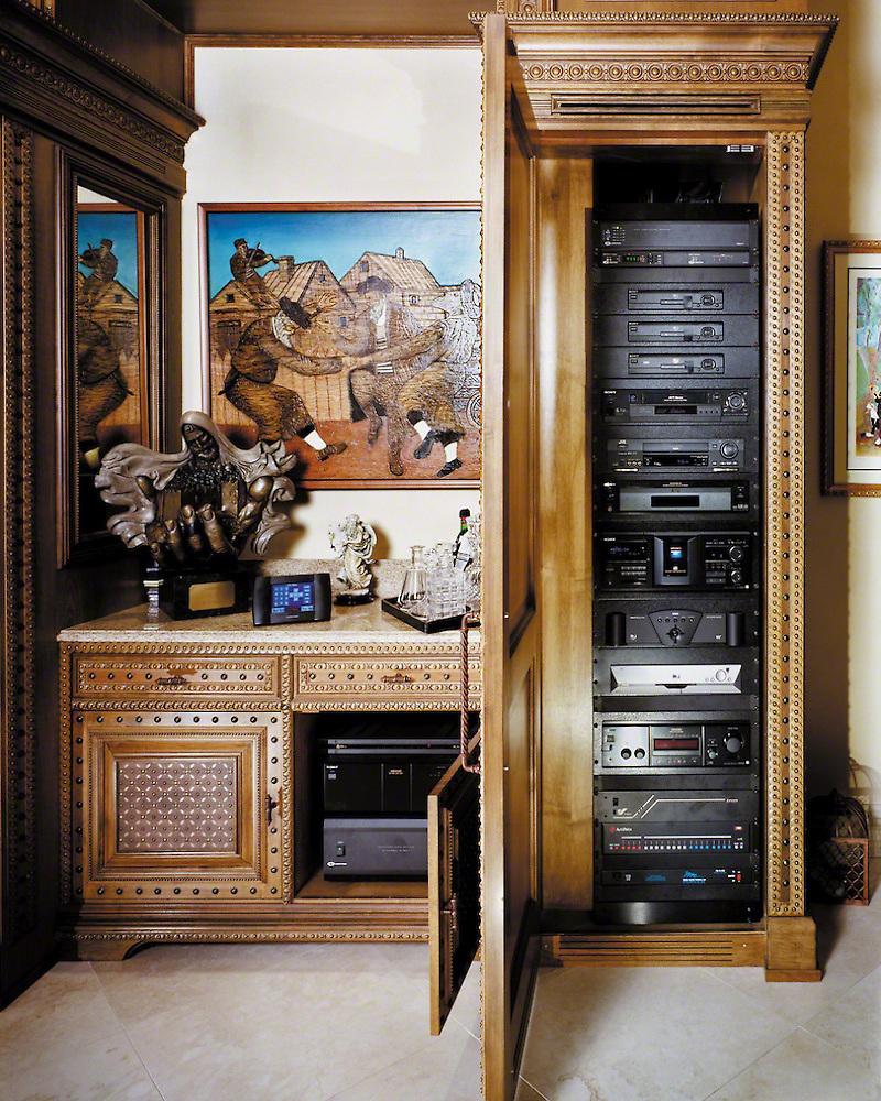 Hidden Sources Built In Cabinet