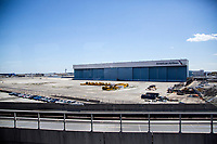 NEW YORK, NY - MAY 12: View of American Airlines warehouses at John F. Kennedy International Airport on May 12, 2020 in New York,(Photo by Pablo Monsalve / VIEWpress via Getty Images)