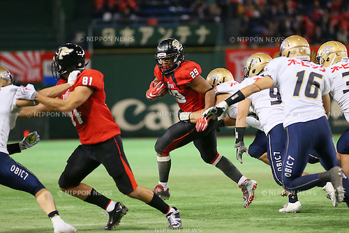Gino Gene Gordon (Frontiers), <br /> DECEMBER 12, 2016 - American Football : <br /> X League Championship &quot;Japan X Bowl&quot; <br /> between Obic Seagulls 3-16 Fujitsu Frontiers <br /> at Tokyo Dome, Tokyo, Japan. <br /> (Photo by YUTAKA/AFLO SPORT)