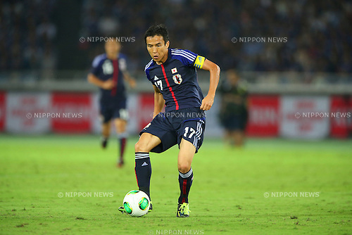Makoto Hasebe (JPN),<br /> SEPTEMBER 10, 2013 - Football / Soccer :<br /> Kirin Challenge Cup 2013 match between Japan 3-1 Ghana at Nissan Stadium in Kanagawa, Japan. (Photo by Kenzaburo Matsuoka/AFLO)