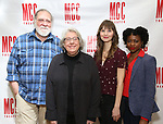 "Richard Masur, Jayne Houdyshell, Molly Camp, and Pascale Armand attend the Meet & Greet for the cast of ""Relevance"" at the Dodgers Atelier on January 9, 2018 in New York City."