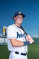 Everett AquaSox outfielder Charlie McConnell (19) poses for a photo before a Northwest League game against the Tri-City Dust Devils at Everett Memorial Stadium on September 3, 2018 in Everett, Washington. The Everett AquaSox defeated the Tri-City Dust Devils by a score of 8-3. (Zachary Lucy/Four Seam Images)
