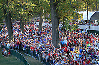 Fans during the Sunday singles matches of the 39th Ryder Cup at Medinah Country Club, Chicago, Illinois .(Photo Colum Watts/www.golffile.ie)