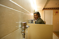 Richard Gere impersonator in the restroom at the Sunburst.Convention of Professional Tribute Artists