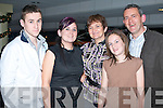 FAMILY NIGHT: Laura and Michael Galway, Ballyheigue celebrating their 18th and 40th birthdays with their family at the Kingdom Greyhound Stadium Night at the Dogs on Saturday l-r: Gary, Laura, Geraldine, Annie and Michael Galway..   Copyright Kerry's Eye 2008