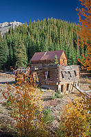 Alta was the company town for Gold King Mine. Gold King was discovered in 1878 producing gold, silver, copper and lead. It became the first mine to use high-voltage electricity generated from the Ames Power Plant near Telluride.  The mine produced continuously into the 1890's and operated intermittently with various owners into the 1940's. The town had three mills- that have since burned down. The last one burnt down in 1945 while several men were still underground, the superintendent ordered the portal to be dynamited to snuff out the fire. His son was one of the seven men underground.