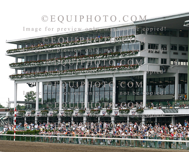 Parterre clubhouse boxes at Monmouth Park in Oceanport, New Jersey.