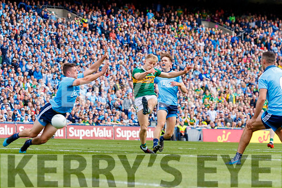 Killian Spillane, Kerry scores his side's only goal during the GAA Football All-Ireland Senior Championship Final match between Kerry and Dublin at Croke Park in Dublin on Sunday.