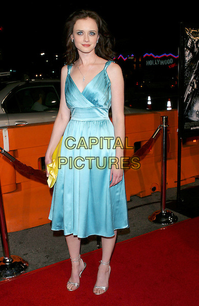 "ALEXIS BLEDEL.""Sin City"" World Premiere held at Mann National Theater, Westwood, Los Angeles, California, USA, .March 28th 2005..full length blue dress necklace yeloow clutch bag silver strappy shoes.Ref: ADM.www.capitalpictures.com.sales@capitalpictures.com.©Jacqui Wong/AdMedia/Capital Pictures."