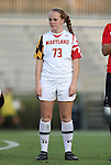 20 September 2012: Maryland's Shannon Collins. The University of Maryland Terrapins played the Duke University Blue Devils to a 2-2 tie after overtime at Koskinen Stadium in Durham, North Carolina in a 2012 NCAA Division I Women's Soccer game.