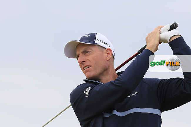 Jim Furyk (USA) tees off the 2nd tee during Thursday's Round 1 of the 2015 U.S. Open 115th National Championship held at Chambers Bay, Seattle, Washington, USA. 6/18/2015.<br /> Picture: Golffile | Eoin Clarke<br /> <br /> <br /> <br /> <br /> All photo usage must carry mandatory copyright credit (&copy; Golffile | Eoin Clarke)