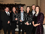 William Martin from VW Recycling with Terri Martin, Barry and Niamh Kieran and Brian and Ciara Liffey who won the Red Carpet Award at the Baile Atha Fherdia Traders Awards in the Nuremore hotel Carrickmacross. Photo:Colin Bell/pressphotos.ie