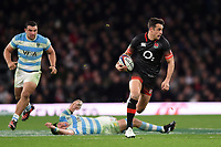 Alex Lozowski of England goes on the attack. Old Mutual Wealth Series International match between England and Argentina on November 11, 2017 at Twickenham Stadium in London, England. Photo by: Patrick Khachfe / Onside Images