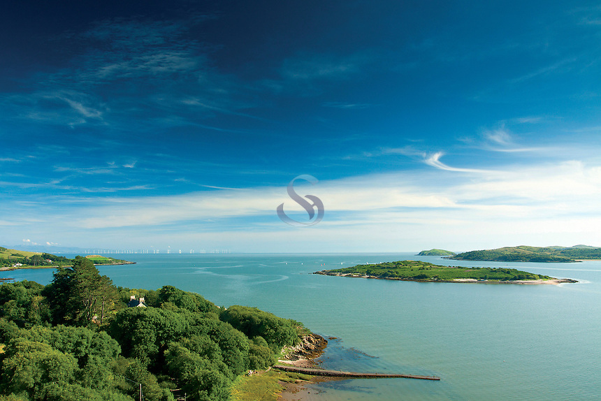 Rockcliffe, Rough Island, Castle Point and the Solway Firth from Mote of Mark, Rockcliffe, Dumfries and Galloway