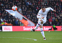 29th February 2020; Vitality Stadium, Bournemouth, Dorset, England; English Premier League Football, Bournemouth Athletic versus Chelsea; the shot from Ross Barkley of Chelsea shoots but it goes over the crossbar