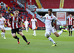 Mark Duffy of Sheffield Utd in action with Luke Leahy of Walsall during the Carabao Cup round One match at Bramall Lane Stadium, Sheffield. Picture date 9th August 2017. Picture credit should read: Jamie Tyerman/Sportimage
