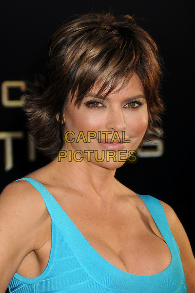 LISA RINNA .'Clash Of The Titans' Los Angeles Premiere held at Grauman's Chinese Theatre, Hollywood, California, USA..March 31st, 2010.headshot portrait blue turquoise  .CAP/ADM/BP.©Byron Purvis/AdMedia/Capital Pictures.