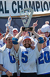 Orange, CA 05/17/14 - Jake Seiler (Grand Valley State #5) in action during the 2014 MCLA Division II Men's Lacrosse Championship game between Grand Valley State University and St John University at Chapman University in Orange, California.  Grand Valley Defeated St John 12-11.