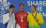 . Swimming finals. XXI Commonwealth games. Optus Aquatics Centre. Gold Coast 2018. Queensland. Australia. 05/04/2018. ~ MANDATORY CREDIT Garry Bowden/SIPPA - NO UNAUTHORISED USE - +44 7837 394578