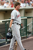 August 24 2008:  Josh Wilson of the Pawtucket Red Sox, Class-AAA affiliate of the Boston Red Sox, during a game at Frontier Field in Rochester, NY.  Photo by:  Mike Janes/Four Seam Images