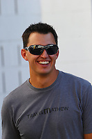 Nov 7, 2013; Pomona, CA, USA; IndyCar driver Graham Rahal in attendance during NHRA qualifying for the Auto Club Finals at Auto Club Raceway at Pomona. Mandatory Credit: Mark J. Rebilas-