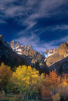 742900370 aspens glow in fall colored splendor below middle palisades glacier in the high sierras in central california