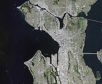 aerial photo map of Seattle, Washington