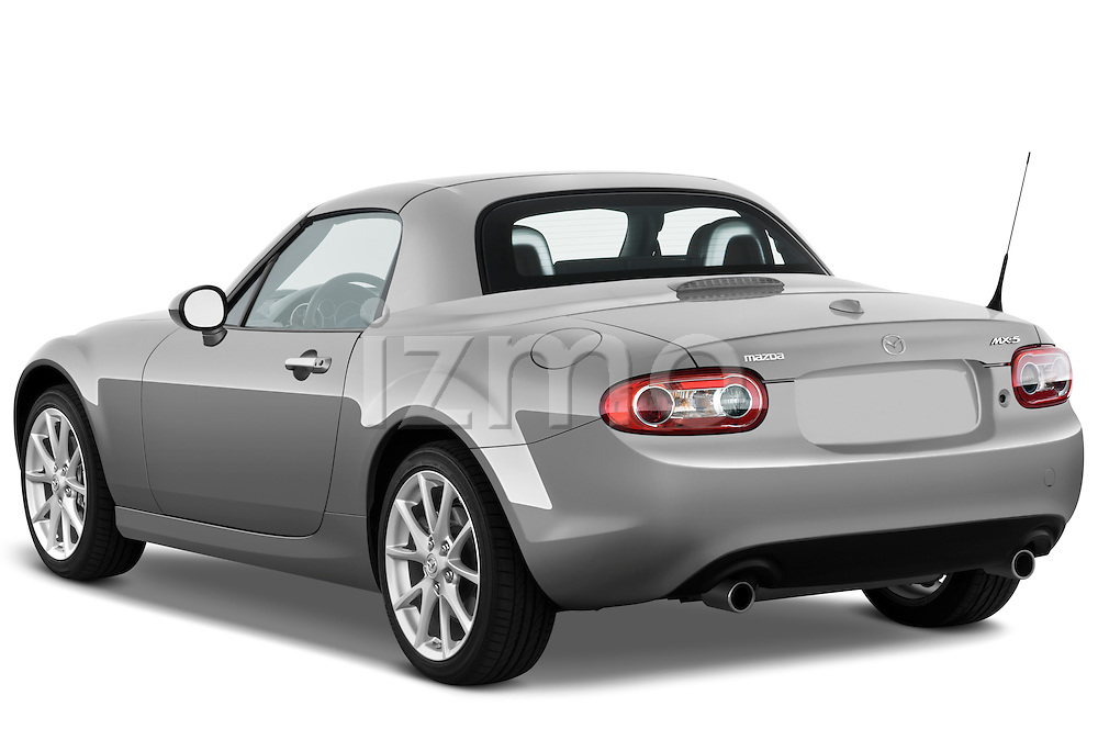 Rear three quarter view of a 2010 Mazda Miata MX5