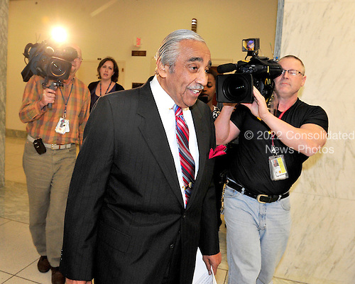 United States Representative Charles Rangel (Democrat of New York) leaves his office for some votes in Washington, D.C. on Monday, November 15, 2010.  He had no comment about the on-going ethics probe into his activities..Credit: Ron Sachs / CNP.(RESTRICTION: NO New York or New Jersey Newspapers or newspapers within a 75 mile radius of New York City)