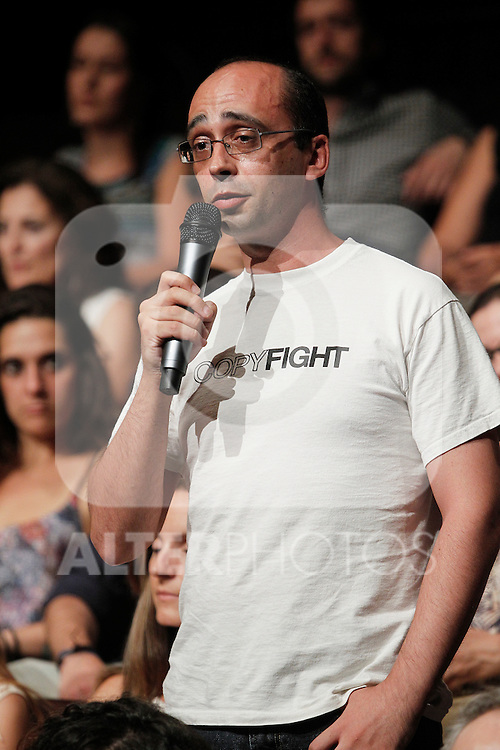`Podemos´ member David Bravo during the political party team presentation for the Spanish General Elections in Madrid, Spain. July 16, 2015. (ALTERPHOTOS/Victor Blanco)