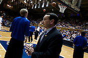 November 28, 2008. Durham, NC.. Duke vs. Duquesne at Cameron Indoor Stadium.. Coach K led his team to an easy 95-72 victory.