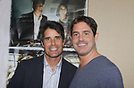 """Young and the Restless, Bold and the Beautiful and Sunset Beach Peter Barton """"Scott Grainger"""" poses with Zach Galligan in Gremlins at Chiller Theatre - Toy, Model and Film Expo was held over the weekend - October 27, 2013 at the Sheraton Hotel, Parsippany, New Jersey - (Photo by Sue Coflin/Max Photos)"""