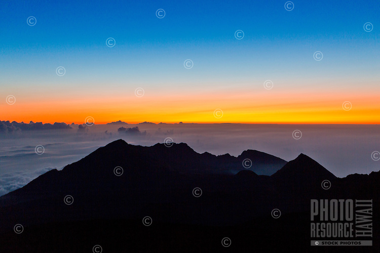 Sunrise at Haleakala, Maui.