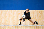 GRAND RAPIDS, MI - NOVEMBER 18: Taylor Yontz (20) of Wittenberg University bumps the ball during the Division III Women's Volleyball Championship held at Van Noord Arena on November 18, 2017 in Grand Rapids, Michigan. Claremont-M-S defeated Wittenberg 3-0 to win the National Championship. (Photo by Doug Stroud/NCAA Photos via Getty Images)