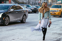 Helena Borden attends Day 4 of New York Fashion Week on Feb 15, 2015 (Photo by Hunter Abrams/Guest of a Guest)