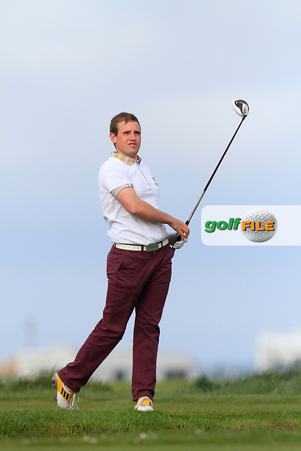 Declan Reidy (Co. Sligo) during round 1 of The West of Ireland Amateur Open in Co. Sligo Golf Club on Friday 18th April 2014.<br /> Picture:  Thos Caffrey / www.golffile.ie