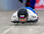 15 December 2006: Svetlana Trunova from Russia, starts her run at the FIBT Women's World Cup Skeleton Competition at the Olympic Sports Complex on Mount Van Hoevenburg  in Lake Placid, New York, USA. &amp;#xA;&amp;#xA;Mandatory Photo credit: Ed Wolfstein Photo<br />