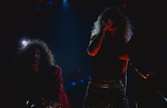 Whitesnake performing at St Louis Arena, St Louis, Mo . July 1987. Vivian Campbell, David Coverdale, Adrian Vandenberg.