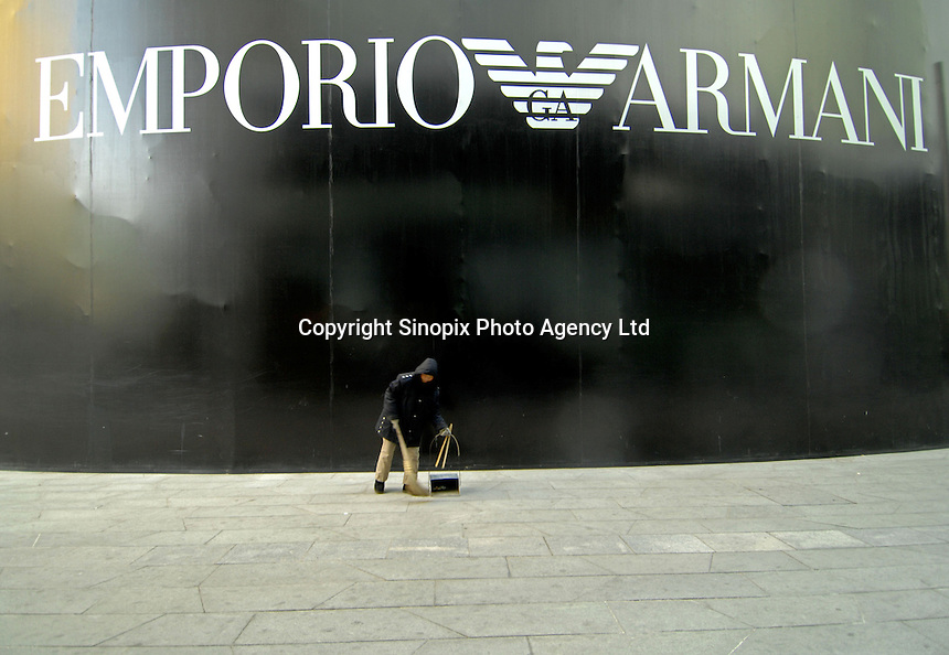 Designer shop Emporio Armani at the new Central Place development in the Chaoyang District, Beijing, China..