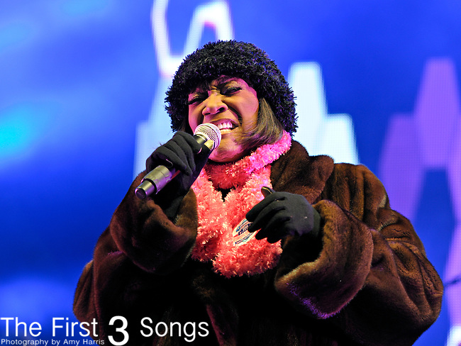 Patti LaBelle performs on the Verizon Stage in Super Bowl Village in Indianapolis, Indiana on January 28, 2012 in advance of Super Bowl XLVI.